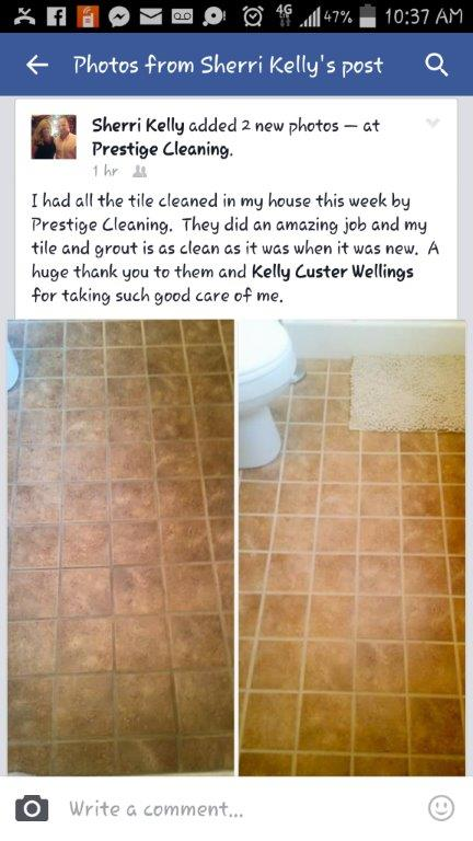 tile & grout cleaning before & after pic